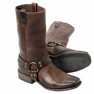 Vintage Leather Harness Boots